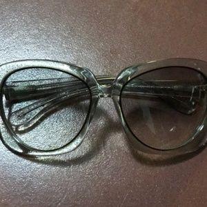 Bottega Veneta Clear Oversized Sunglasses